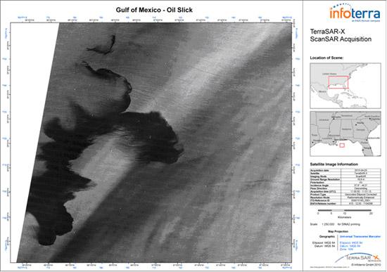 Космическое радиолокационное изображение, полученное 25 апреля 2010 года со спутника TerraSAR-X http://infoterra.de/